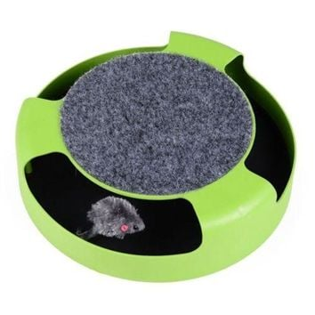 Cat Pet Toy Turnplate Scratch Post