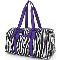 Belvah Women's Quilted Zebra Large Duffle Bag