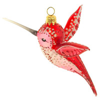 "5"" Hummingbird Ornament, Red, Ornaments"