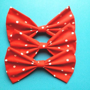 Minnie Mouse Hair Bow/Bow Tie by DiemEtNoctem on Etsy