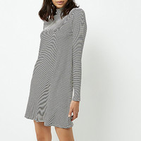 Black and white stripe turtleneck dress - RI Limited Edition - Sale - women