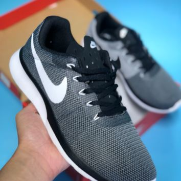 HCXX N299 Nike Tanjun Racer Roshe 3 Mesh Breathable Running Shoes Black Grey
