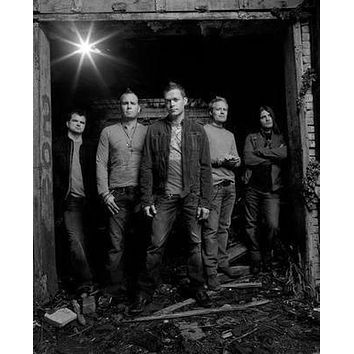 3 Doors Down poster Metal Sign Wall Art 8in x 12in Black and White
