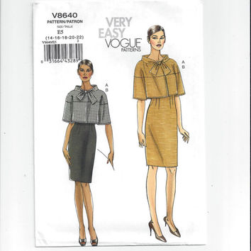 Vogue 8640 Pattern for Misses' Jacket & Skirt, Very Easy Vogue, FACTORY FOLDED, UNCUT, 2010, Unused, Home Sew Pattern, Custom Fit, Easy Sew