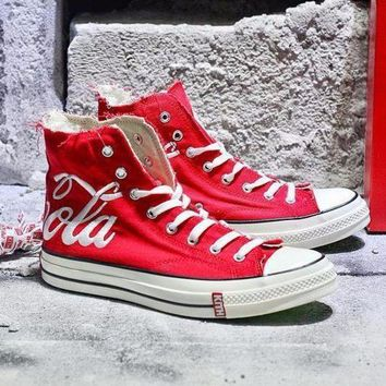CREYUX5 Best Onlie Sale KITH x Coca Cola x Converse Chuck Taylor All Star 1970s High 70 Sneakers Red