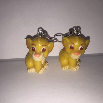 Squinkies Earrings - Simba - made from re-purposed toys