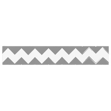 "KESS Original ""Candy Cane Gray"" Chevron Table Runner"