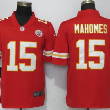 New Nike Kansas City Chiefs 15 Mahomes Red 2017 Vapor Untouchable Limited Player