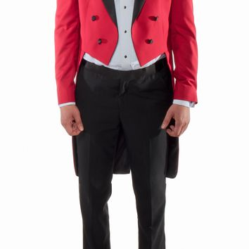Red 2pc Tail Tuxedo -Regular Fit - Tailcoat and Trousers