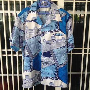 vintage Hawaiian shirt by TORI RICHARD L size