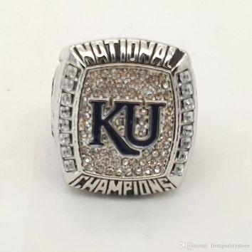 Factory Direct Sale 2008 NCAA Generous Kansas Jayhawks KU Championship Rings for  Fans