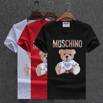 Moschino Short Round Collar Short Sleeve T-shirts #2965699