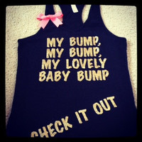 My Bump - Baby Tank - My Bump Tank - Mom to Be - Ruffles with Love