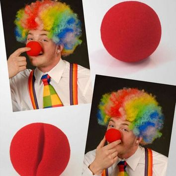 ICIK272 1 PCS Party Sponge Ball Red Clown Magic Nose for Halloween Christmas Party Masquerade