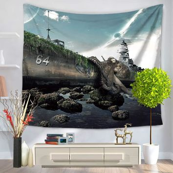 Animals India Thailand Wall Tapestry Polyester Carpet Decorative Blankets Bedspread Cover Yoga Mat Blanket Picnic cloth