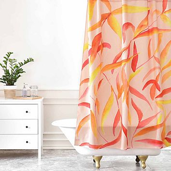 DENY Designs Rosie Brown Autumn Leaves Shower Curtain
