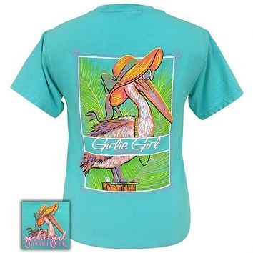 Girlie Girl Originals Preppy Beach Pelican Comfort Color Lagoon Blue T-Shirt