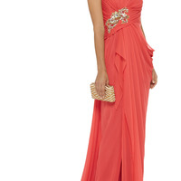 Marchesa Notte Embellished silk gown – 60% at THE OUTNET.COM