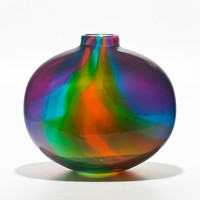 Color Ribbon Vase  by Michael Trimpol: Art Glass Vase - Artful Home