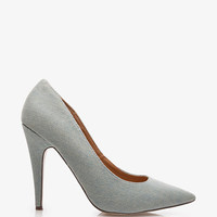Pointed Toe Denim Pumps