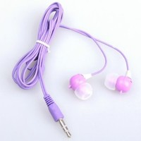 BestDealUSA Purple Cute Rabbit 3.5mm Earphone In-ear Headphone Earbud For iPhone 4 4G MP3 PC