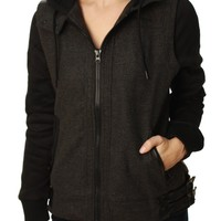 Metal Mulisha Women's Twill Full Zip Forfeit Jacket