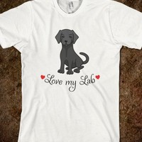 Love my black lab labrador retriever puppy dog t-shirt