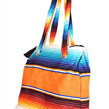 Serape Purse Bag Southwest Rainbow Blanket Vintage Sale 50% Off