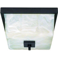 "Nuvo 60-001 - 12"" Textured Black Flush Mounted Ceiling Light Fixture"