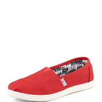 Classic Canvas Slip-On, Red, Youth - TOMS