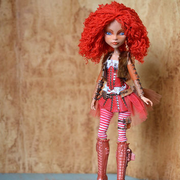 OOAK Monster High doll Cleo de Nil with custom repaint, new hair & clothes