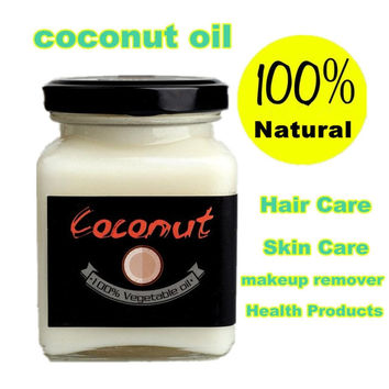 100ML Natural Cold Pressed Virgin Coconut Oil for Skin & Hair Care, Makeup Removal, and Body Massage