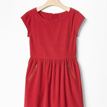 Gap Girls Cord Zip Pocket Dress