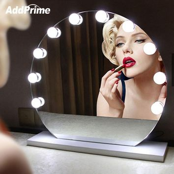 Dimmable Vanity Mirror Light LED Makeup Table Lights Dressing Table Bulbs Kit Hollywood Style USB String Light Makeup Fill Light
