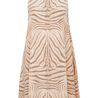 Mina Printed Washed-Silk Mini Dress