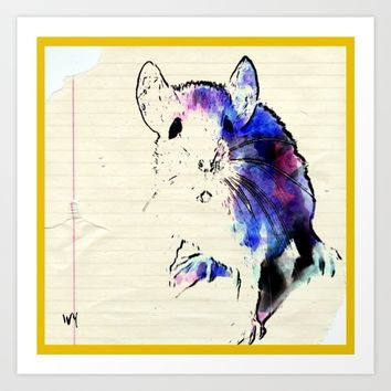 Mouse Art Print by Jessica Ivy