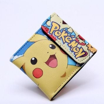 Pocket Monster  Wallet Teenager Boy Girl Kawaii Pikachu Poke Ball Wallet Naruto Student Dollar Bag Card Holder Purse 12Kawaii Pokemon go  AT_89_9