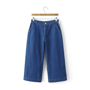 Summer Women's Fashion Pants With Pocket Jeans [4920274628]