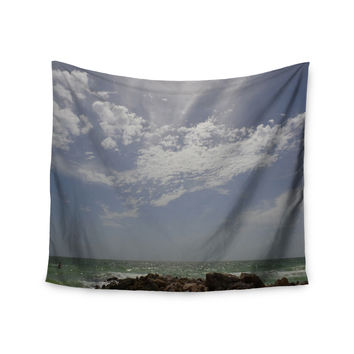 "Rosie Brown ""Clouds"" Coastal Photography Wall Tapestry"