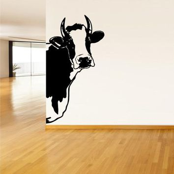 Wall Vinyl Decal Sticker Bedroom Decal Cow Milk Funny Part  z599