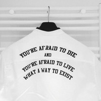 Afraid Back T shirt