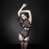Lace and Satin Lingerie Teddy