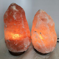 "2x Himalaya Natural Handcraft Rough Raw Crystal Salt Lamp, 8""-9"" Tall,XL162"