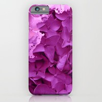 through the purple hydrangea iPhone & iPod Case by clemm