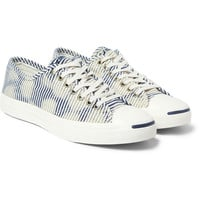 Converse - Jack Purcell Striped Canvas Sneakers | MR PORTER