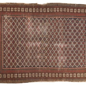 3x4 Antique Shirvan Square Rug