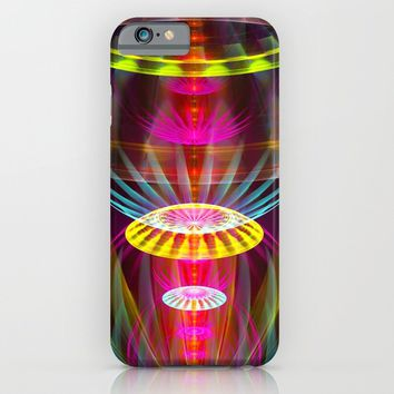 Alien sphere fractal fantasy iPhone & iPod Case by Natalia Bykova