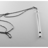 Silver Whistle Necklace