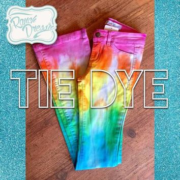 Tie Dye Colored Jeans (Youth & Adult) - Ranch Dress'n