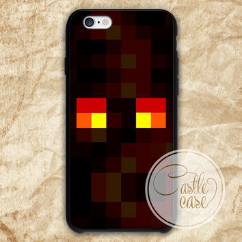 Minecraft magma cube Black White iPhone 4/4S, 5/5S, 5C Series Hard Plastic Case